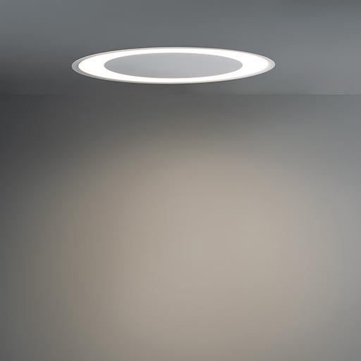 Flat moon eclips 670 recessed LED 1-10V/pushdim GI foto