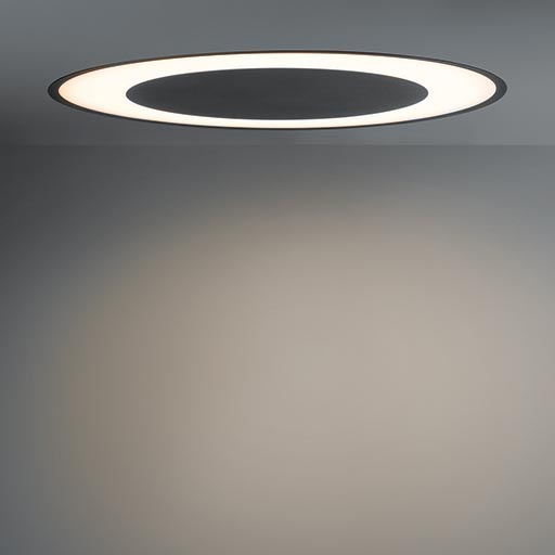 Flat moon eclips 970 recessed LED 1-10V/pushdim GI foto