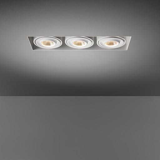 Mini multiple trimless for 3x LED GE foto