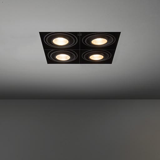 Mini multiple trimless for 4x LED GE foto