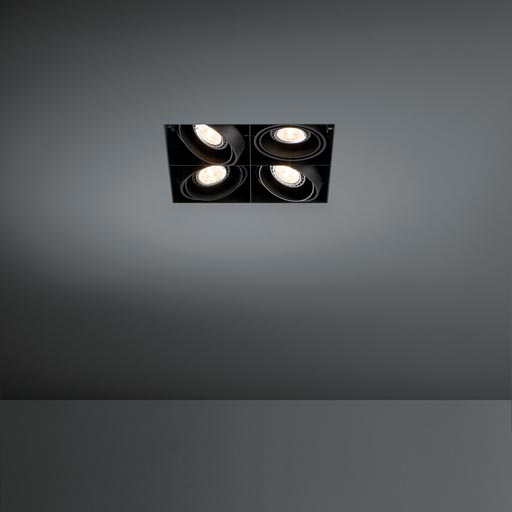 Mini multiple trimless 4x LED retrofit foto