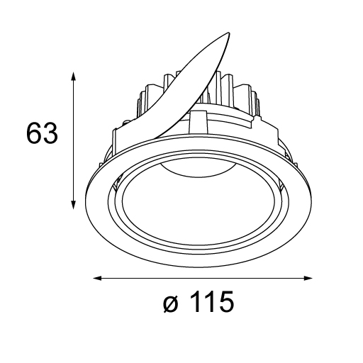 Smart lotis 115 adjustable LED GE tekening