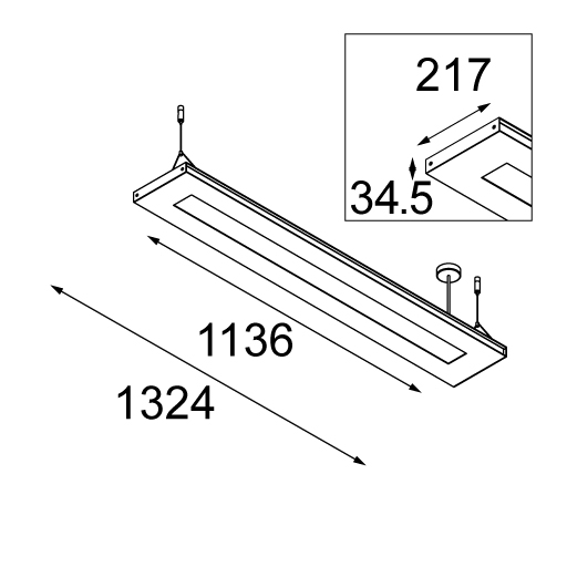 2FLAT2C suspended TL5 poly up/down GI tekening